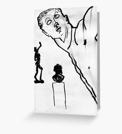 3 sculptures Greeting Card