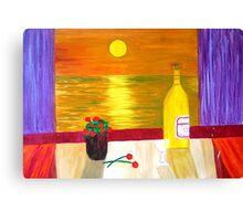 As the Sun sets. Canvas Print