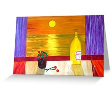 As the Sun sets. Greeting Card