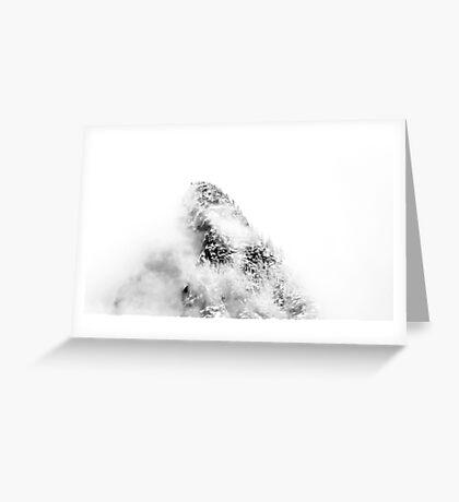 Mountain Peak In Clouds Greeting Card