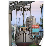 Fish Boat Poster