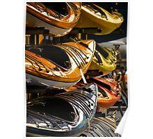Stacked Kayaks Poster