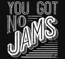 You Got No Jams - BTS Distressed Typography (White) T-Shirt