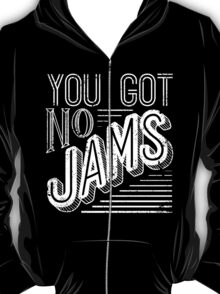 You Got No Jams - BTS Distressed Typography (White) T-Shirt