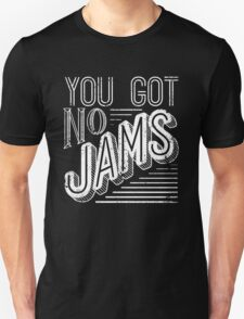 You Got No Jams - BTS Distressed Typography (White) Unisex T-Shirt