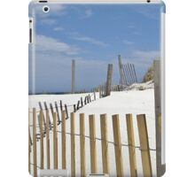 Sand dune fences iPad Case/Skin