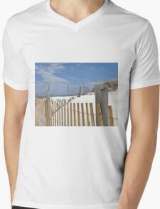 Sand dune fences Mens V-Neck T-Shirt