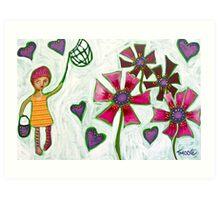 Catching Hearts Art Print