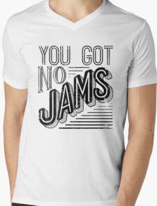 You Got No Jams - BTS Distressed Typography (Black) Mens V-Neck T-Shirt