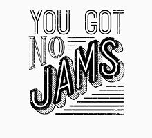 You Got No Jams - BTS Distressed Typography (Black) Womens Fitted T-Shirt