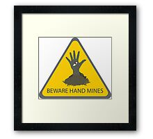 Beware of the Hand Mines (Doctor Who) Framed Print