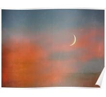 Sunset Moon Poster