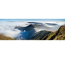 Cribyn, from Pen y Fan, Brecon Beacons National Park, Wales. Photographic Print