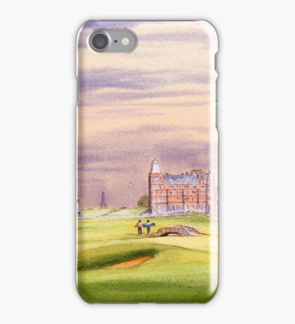 St Andrews Golf Course - 17th Green iPhone Case/Skin