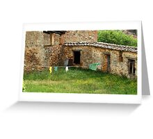 Between Stone Walls-Stigliano, Italy Greeting Card