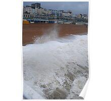 Wet & Windy in Brighton Poster