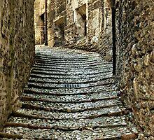 Stone Steps-Spoleto, Italy by Deborah Downes
