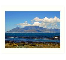 Table mountain from robben island Art Print