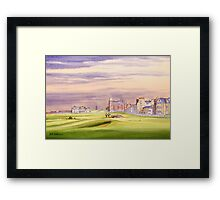 Saint Andrews Golf Course 17Th Green Framed Print