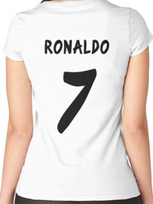 Ronaldo 2013/2014 Women's Fitted Scoop T-Shirt