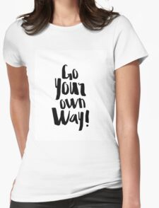 Fleetwood Mac Go Your Own Way  Womens Fitted T-Shirt
