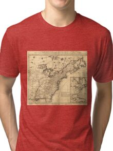 Map of the English Empire in North America (1755) Tri-blend T-Shirt
