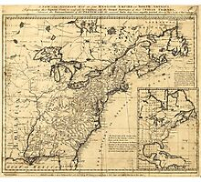 Map of the English Empire in North America (1755) Photographic Print
