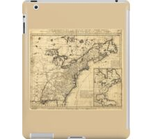 Map of the English Empire in North America (1755) iPad Case/Skin