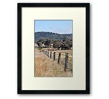 A country Farm Fence Framed Print