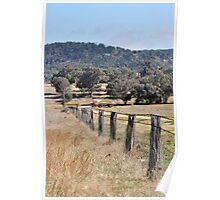 A country Farm Fence Poster