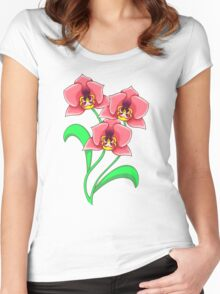 Bold Orchids  Women's Fitted Scoop T-Shirt