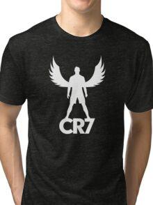 CR7 angel white Tri-blend T-Shirt