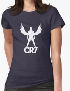 CR7 angel white Womens Fitted T-Shirt