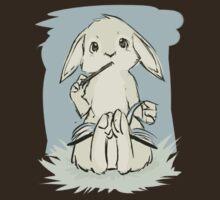 Writing bunny by Tunnelfrog