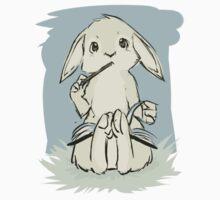 Writing bunny One Piece - Short Sleeve