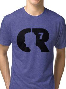 CR7 logo black Tri-blend T-Shirt