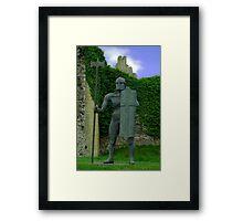 Sculpture at Helmsley Castle. Framed Print