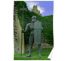 Sculpture at Helmsley Castle. Poster