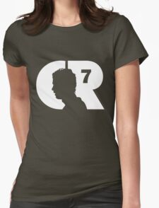 CR7 logo white Womens Fitted T-Shirt