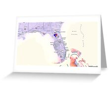 Heart in Florida Greeting Card