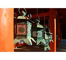 Shrine Lanterns  Photographic Print
