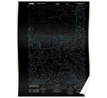USGS Topo Map Oregon Williams Prairie 20110727 TM Inverted Poster