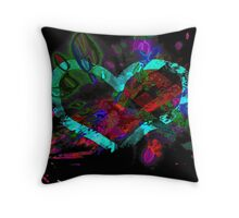 Exploding Heart Throw Pillow
