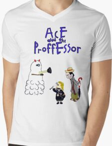 Ace and the Professor Mens V-Neck T-Shirt