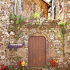 Old Wooden Door - Locronan Brittany France by Buckwhite