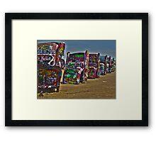 Cadillac Ranch HDR Framed Print