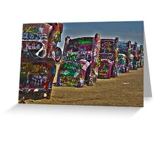 Cadillac Ranch HDR Greeting Card
