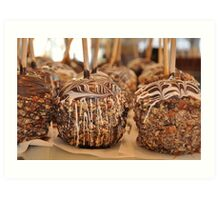 Nutty Chocolatey Gourmet Apples Art Print