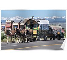 Hoofs and Wagons Poster