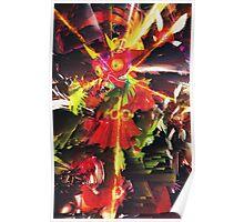 THE LEGEND OF ZELDA - MAJORA'S MASK - SKULL KID - PIXEL SORT - GLITCH EDIT Poster